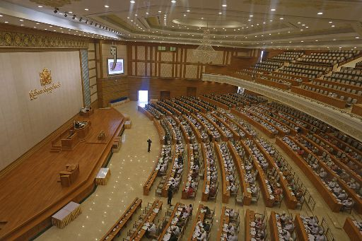 The lower house of Parliament in the capital of Naypyidaw, Myanmar. (©Htoo Tay Zar)