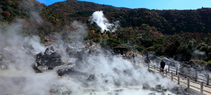 Japan's many hot springs offer rich potential for the development of geothermal energy. ©MIXI/Getty Images