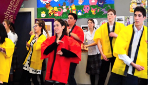 "High school students in Christchurch practice their moves for the ""Koitune"" video."