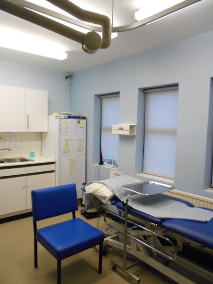 The nurse's room looks more like a typical Japanese examination room.